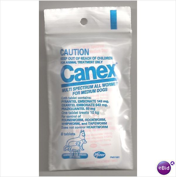 Canex Multi Spectrum All Wormer For Dogs 8 Tablets On Ebid United States Animal Treatment Dogs Tablet