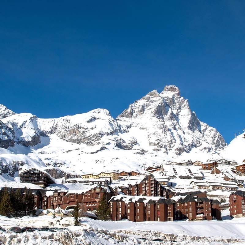 Mountain scenery in Cervinia ski resort, Cervinia #4262673