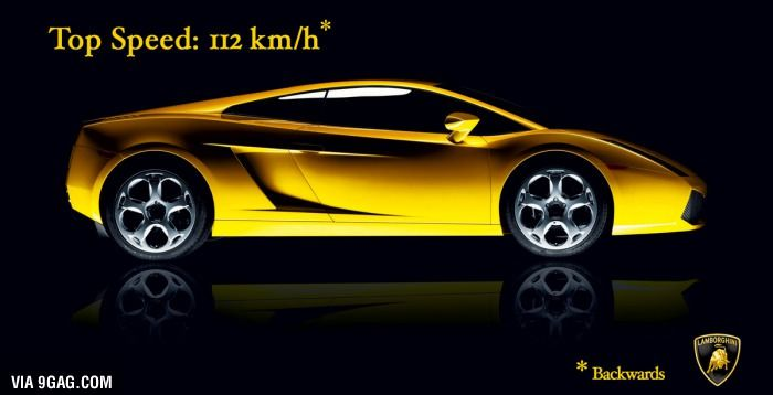 Lamborghini: Top Speed 112 km/h | 9gag | Pinterest | Lamborghini ...