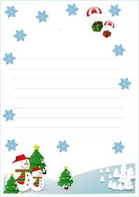 papier lettre avec ligne pour crire au pre nol fond blanc dessin flocons neige bonhomme