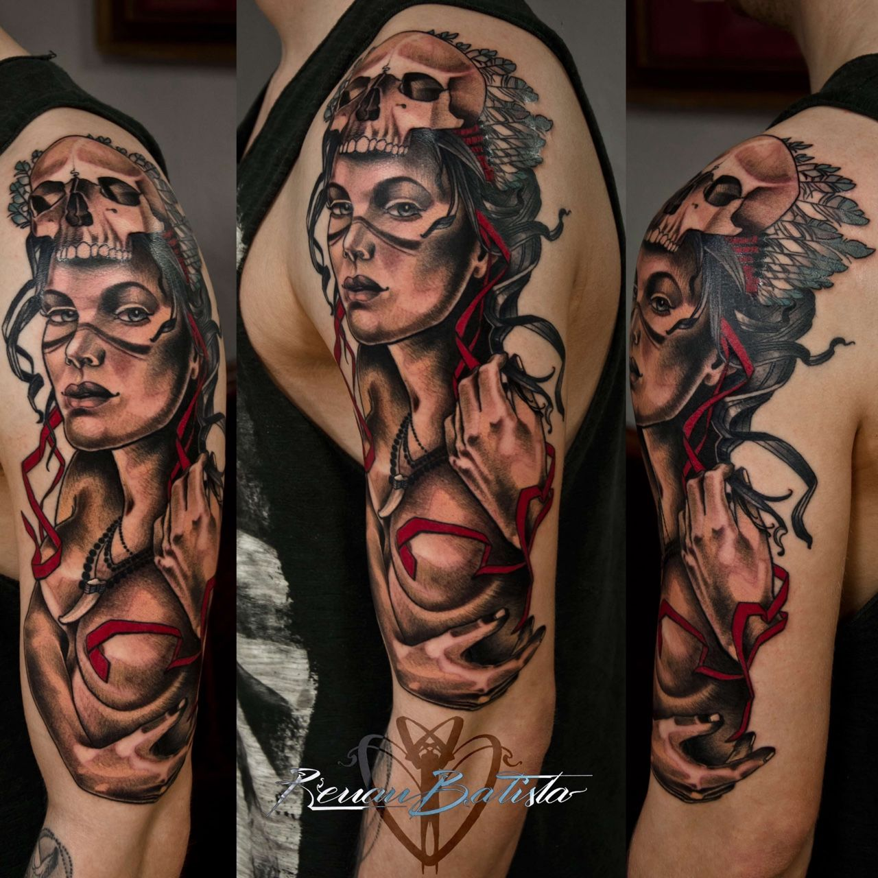 30 Positive Tattoo Ideas For Women That Are Very: Indian Girl That I've Done In Two Sessions On A Very Good
