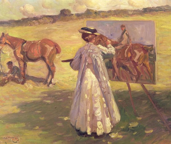 Dame Laura Knight (1877-1970) Painting (oil on canvas), Munnings, Sir Alfred (1878-1959) / © Norwich Castle Museum and Art Gallery / The Bridgeman Art Library