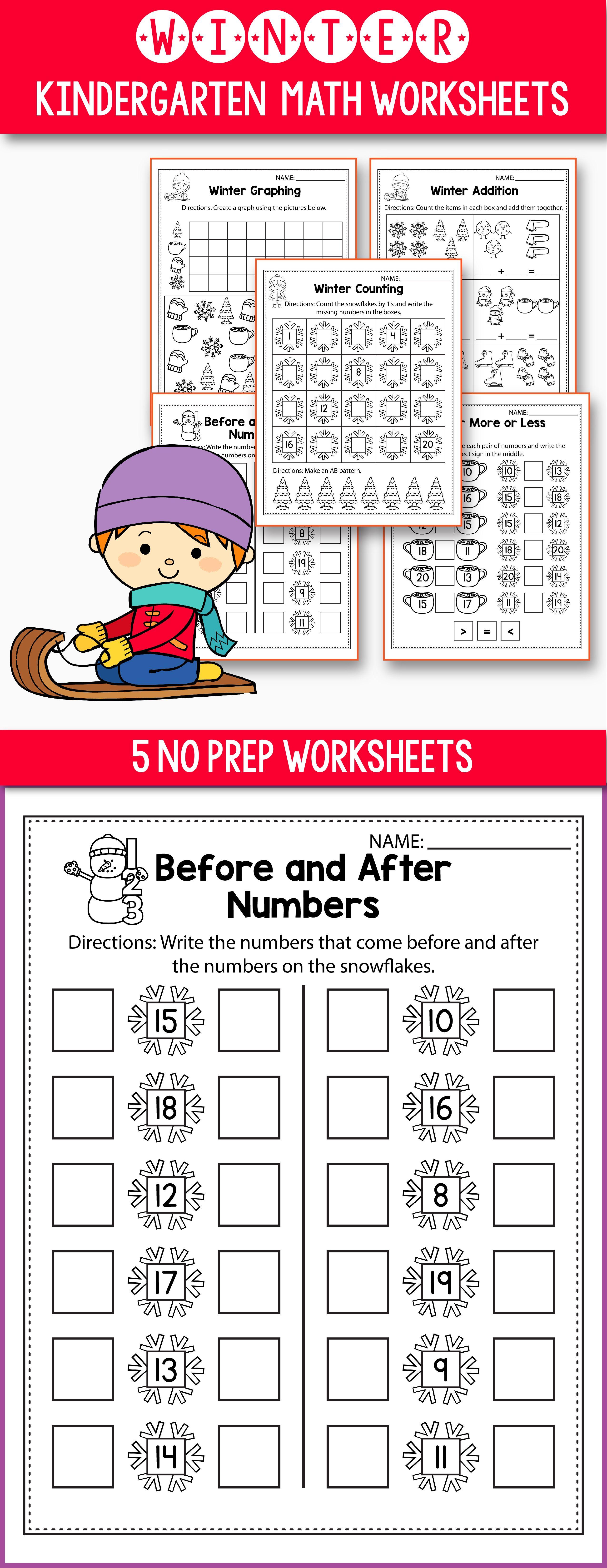 Winter Activities For Kindergarten (Math No Prep) - Winter ...