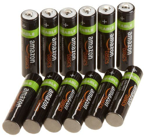 Amazonbasics Aaa Nimh Precharged Rechargeable Batteries 12 Pack 800 Mah Http Www Lowpricecables Rechargeable Batteries Cell Phone Accessories Batteries