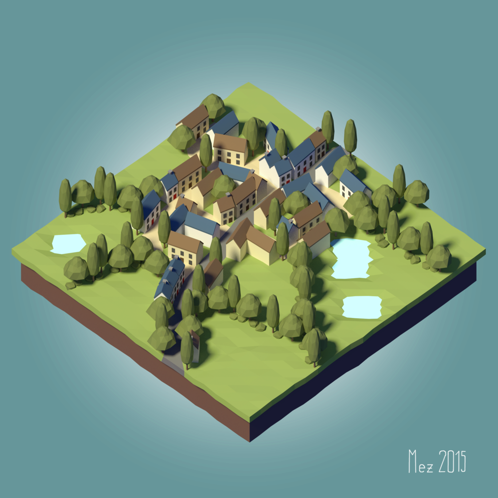 Village [LowPoly] [Tutorial] By Mezaka On DeviantArt