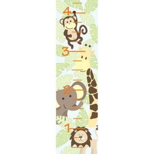 Jungle friends Growth Chart Wall Applique-WPG98854 at The Home Depot