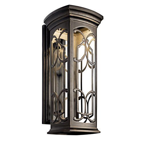 Kichler franceasi 25 energy efficient led outdoor wall light olde bronze
