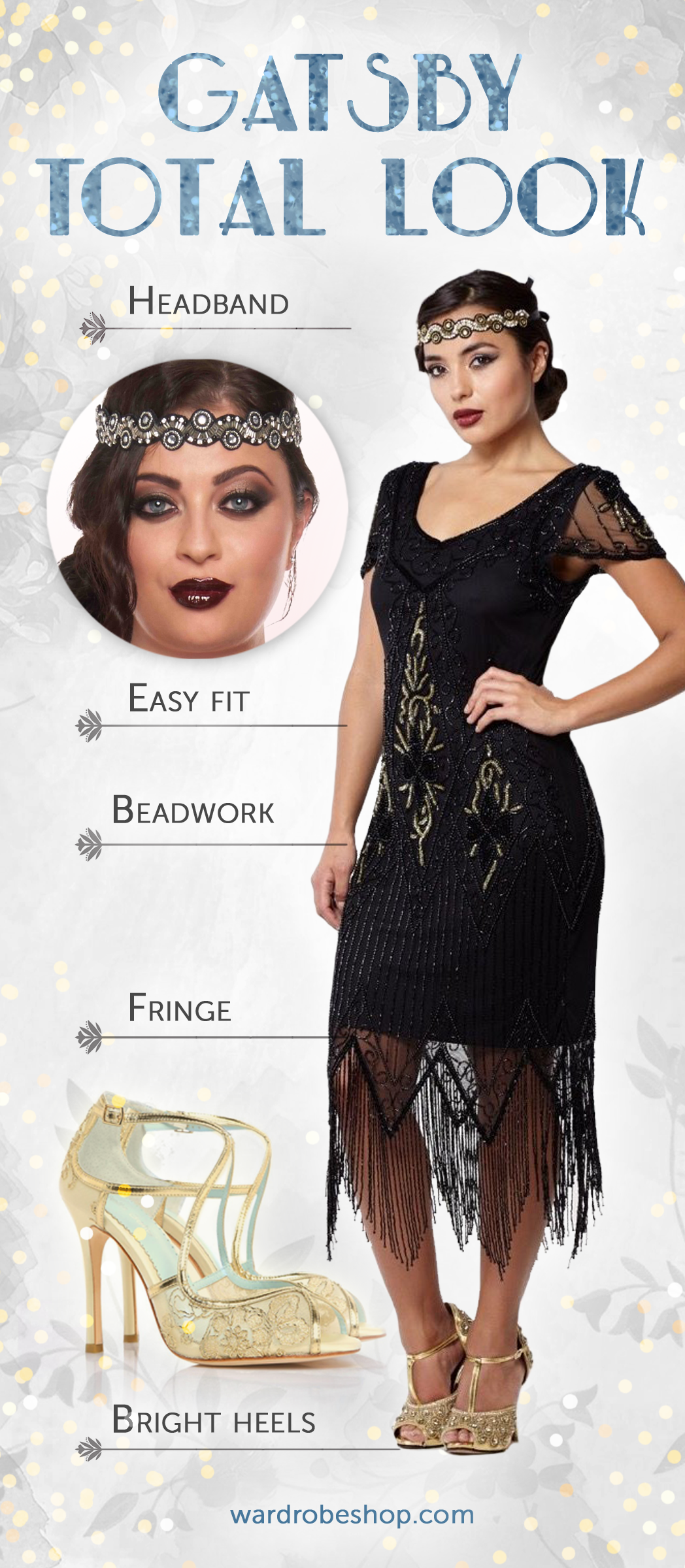Great Gatsby Inspired Look 1920s Themed Party Vintage Style Outfit Roaring Twenties Ret Gatsby Party Dress 1920s Party Dresses Great Gatsby Party Dress [ 2400 x 1048 Pixel ]