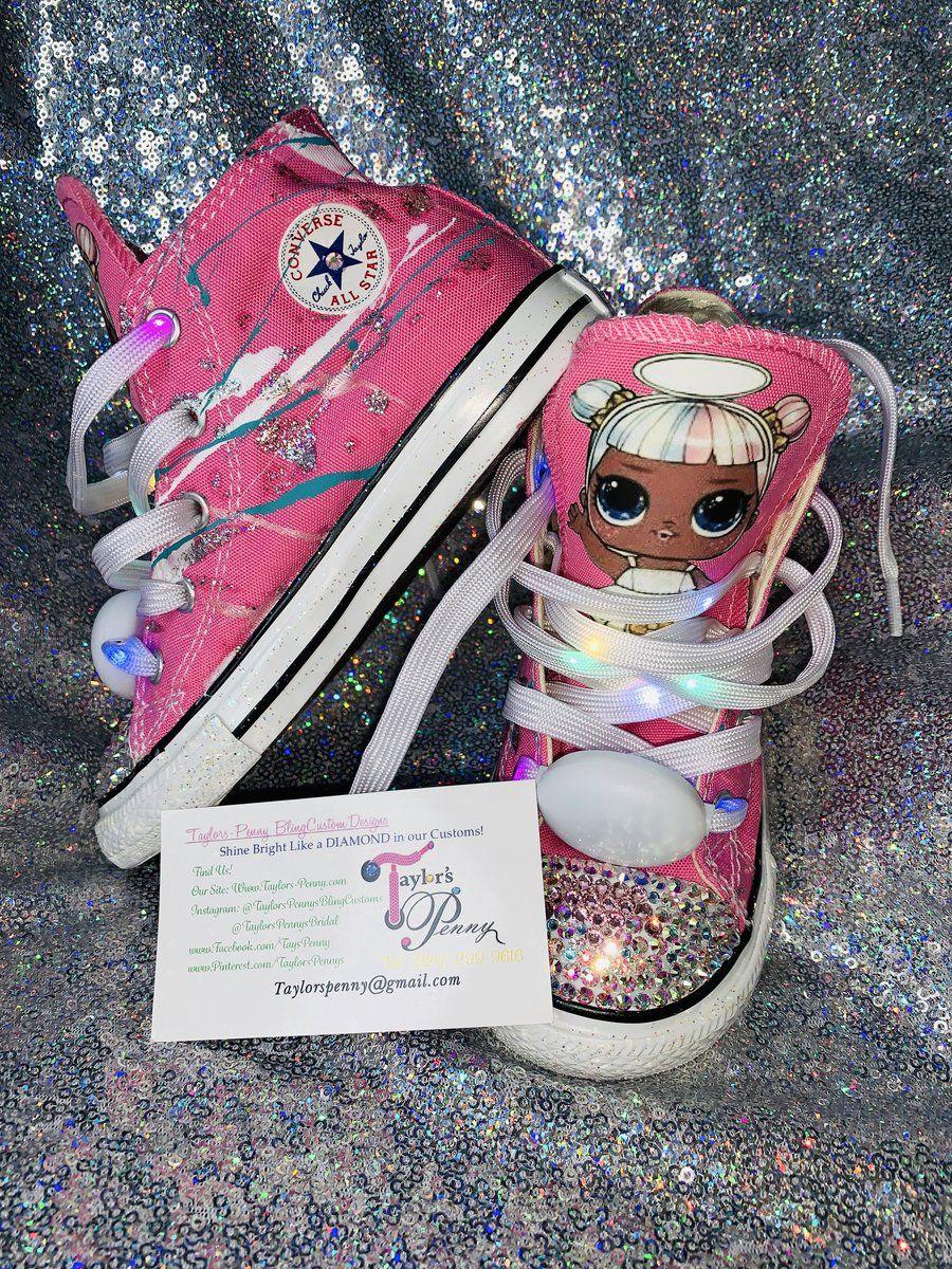 Girls Bling Converse (LOL Surprise) Sneakers Painted Sugar