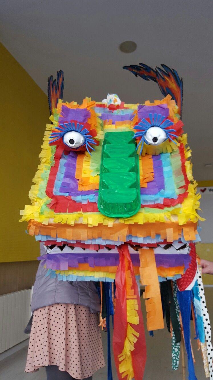 Cabeza de dragón chino muy fácil de hacer pero con algo de trabajo ...