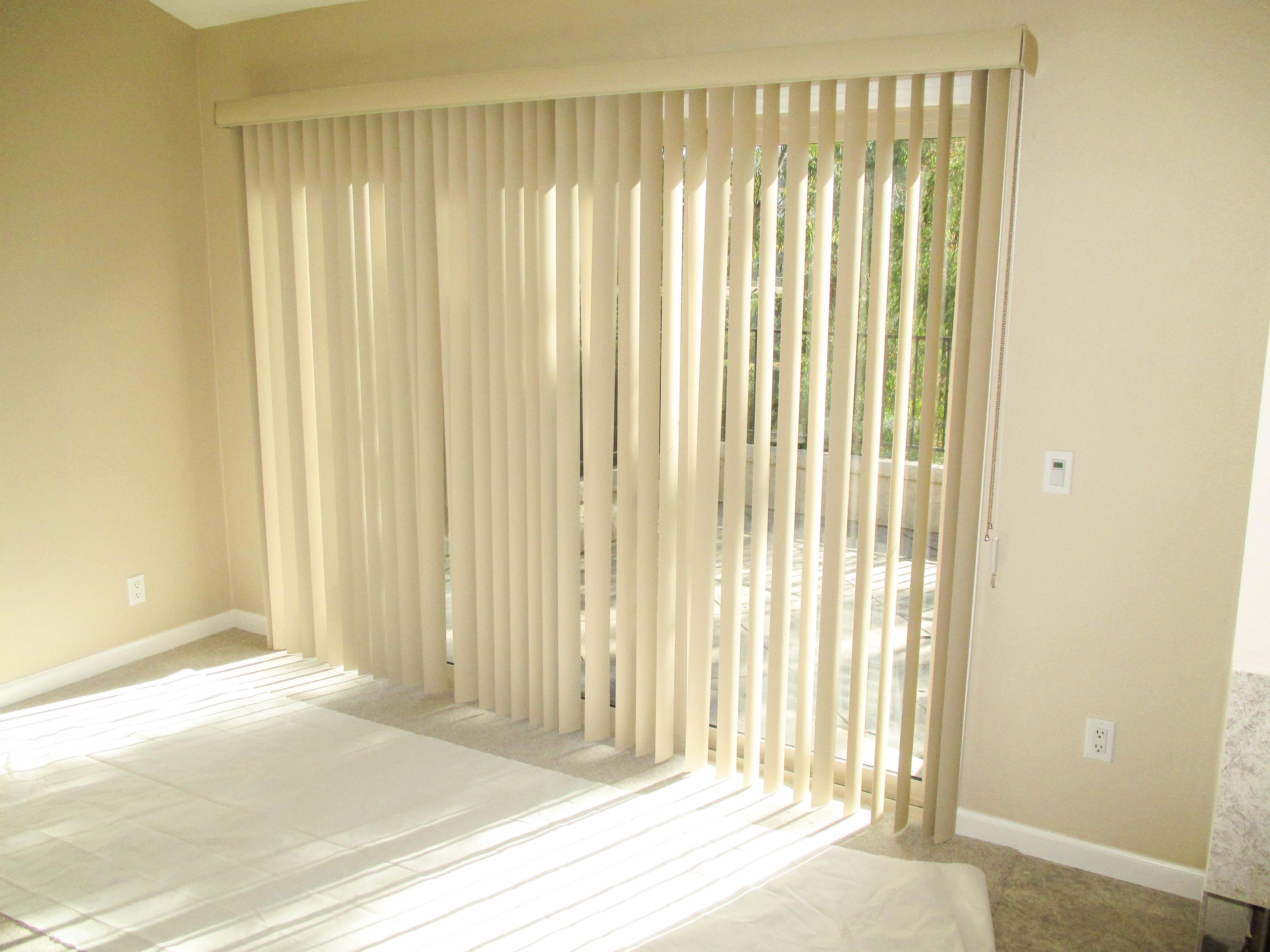 Check out these Vertical Blinds that our team installed on a sliding ...