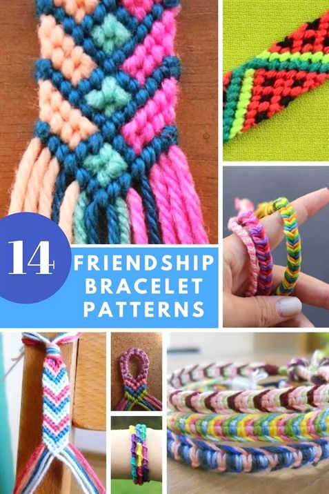 Friendship Bracelet Patterns - 14 Diy Tutorials To Do At Home Or On The Go - Diy Crafts
