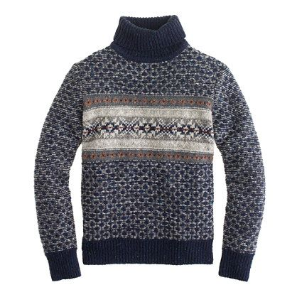 Donegal wool Fair Isle turtleneck sweater : Mens | J.Crew | men's ...