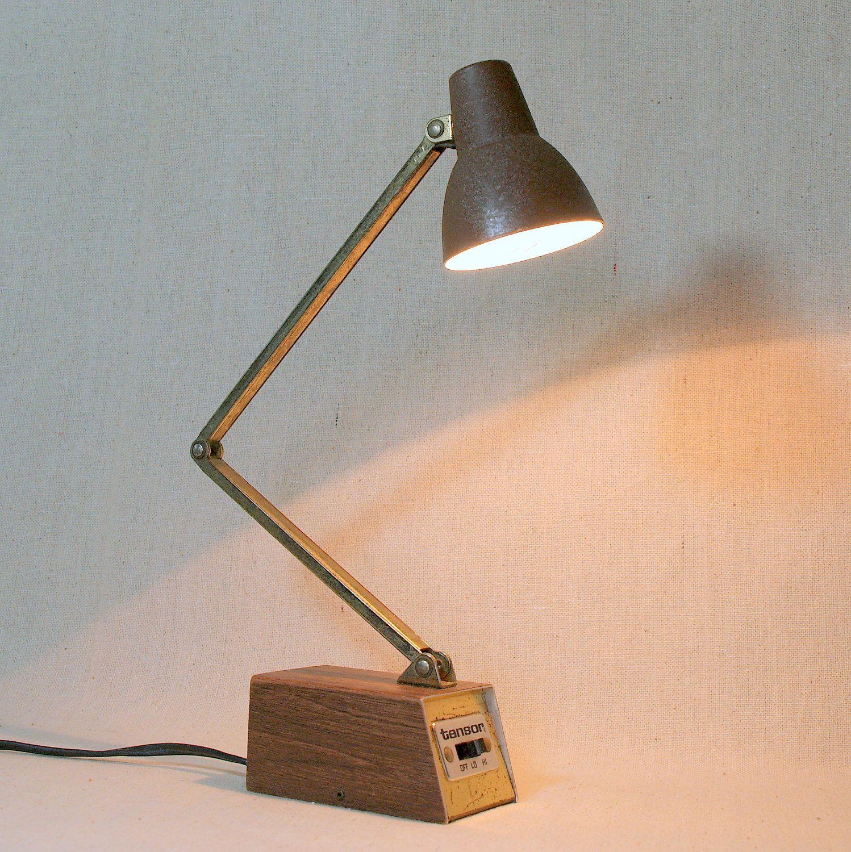 Industrial Steel Lamp Vintage Mid Century Adjustable Arm Desk
