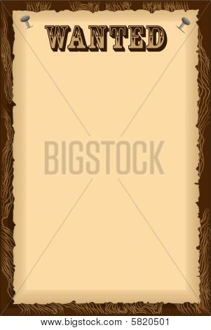 Image of Parchment Wanted Poster Wild West Cowboy Western Themed - most wanted poster templates