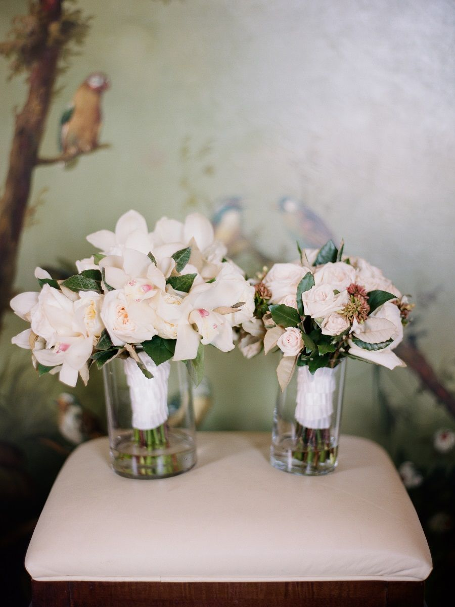 Classic Elegant Natural Orchid And Garden Rose Bouquets By The Farmers Wife Greensboro NC