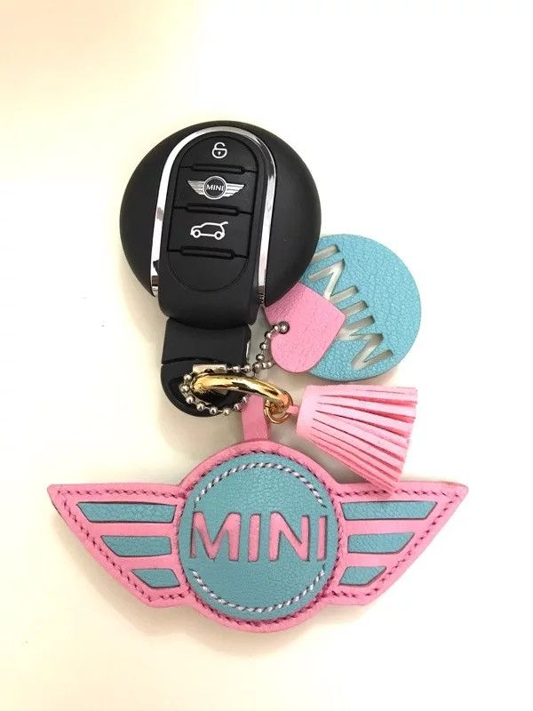 Nice Bmw Mini Car Key Leather Keyring Car Logo Car Key Chain Mini Cooper Countryman Branded Automotive Merchandise Automobilia