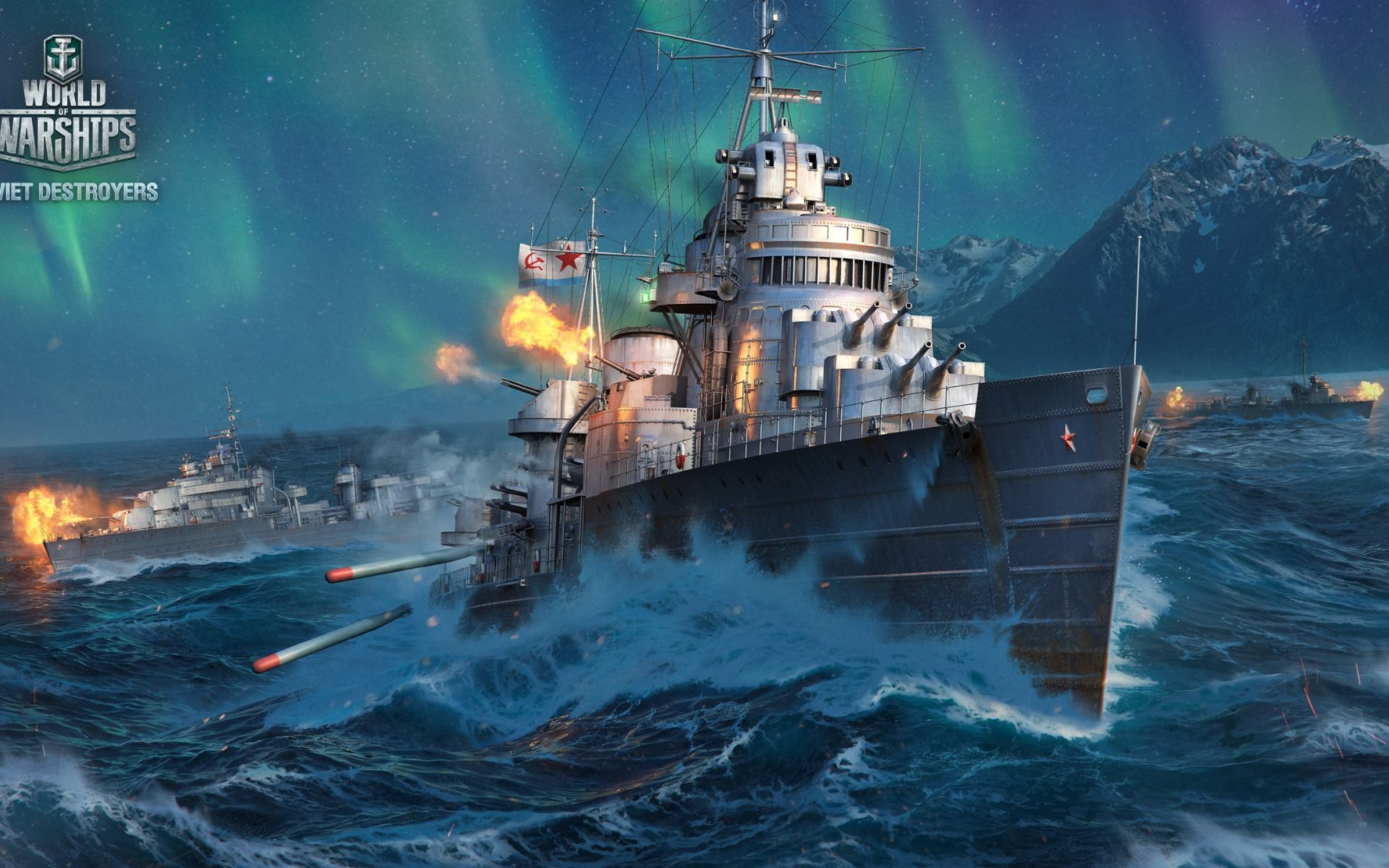 World Of Warships Ship Fire Naval Battle Mom Game Wallpaper