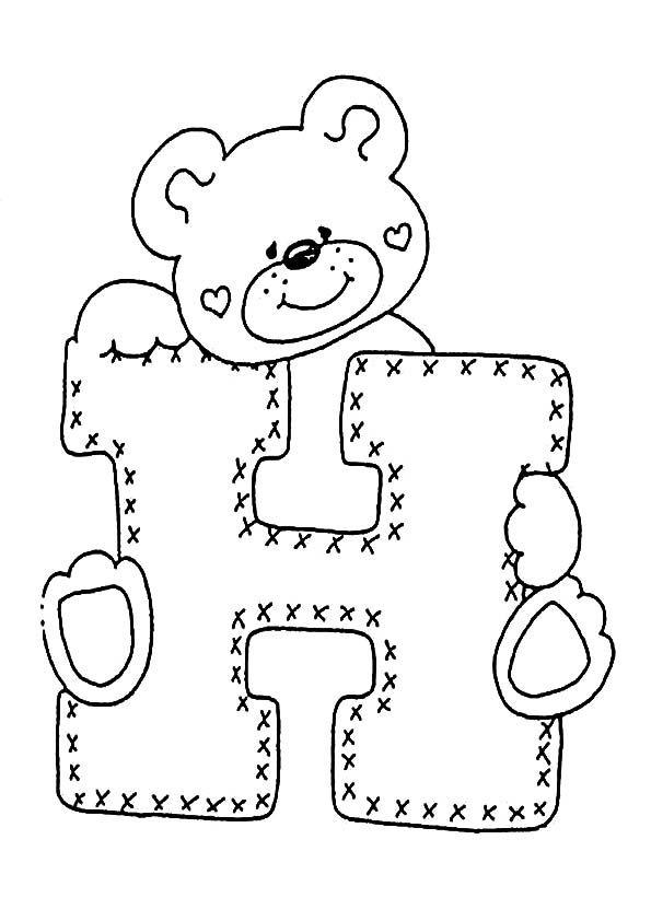 Buchstaben H Ausmalbilder Und Malvorlagen Buchstaben Schablone Ausmalbilder Stickerei Alphabet