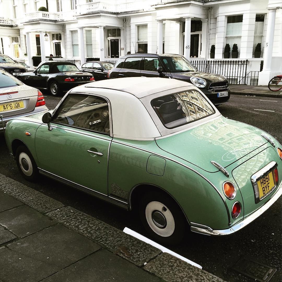 Spotted Nissan Figaro on a London street. Sweet! #nissanfigaro #dreamcar #niceride