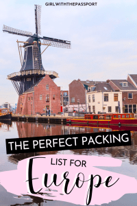 The ULTIMATE Packing List for Europe #ultimatepackinglist The ULTIMATE Packing List for Europe - Girl With The Passport #ultimatepackinglist
