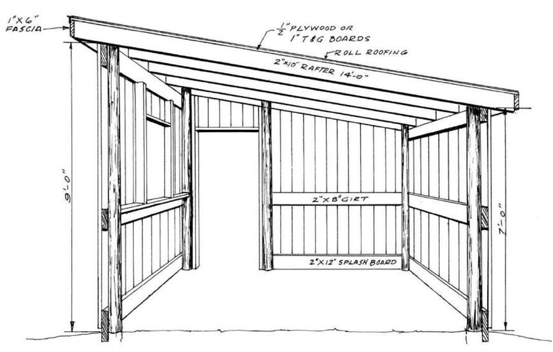 how to build a pole shed free plans | Quick Woodworking Projects ...