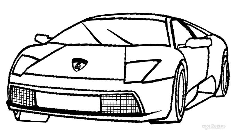 lamborghini printable lamborghini coloring pages