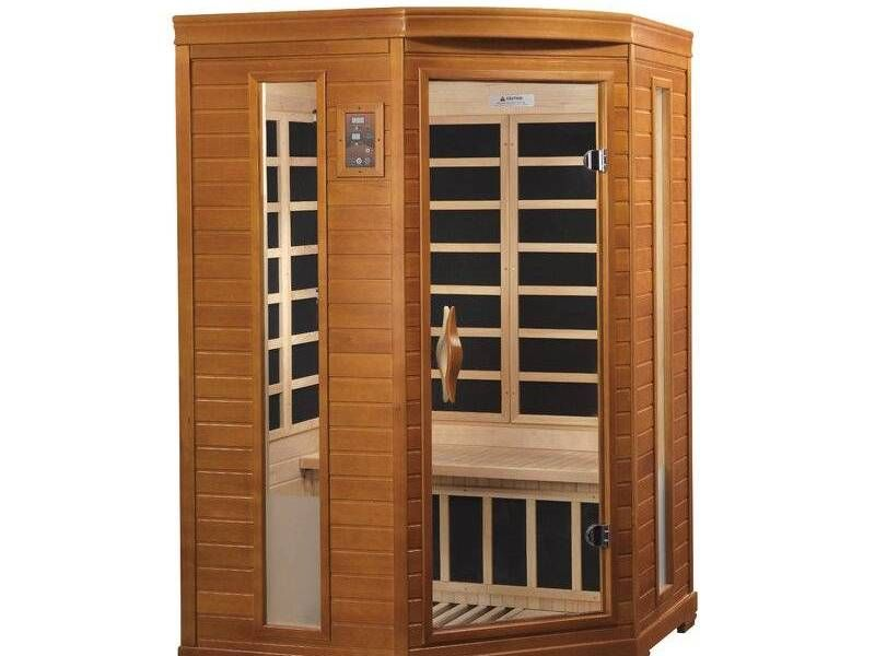 Sauna Brand New In 2020 Tempered Glass Door Infrared Sauna Golden Design