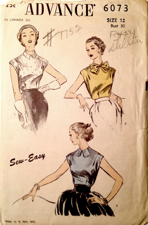 Advance 6573 (1952) √   Figurines de los 50\'s y 60\'s   Pinterest