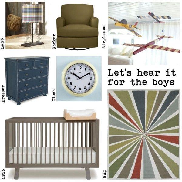 Let's hear it for the boys! nursery decor