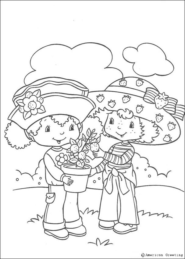 Strawberry Shortcake And Her Friend Orange Blossom Coloring Page