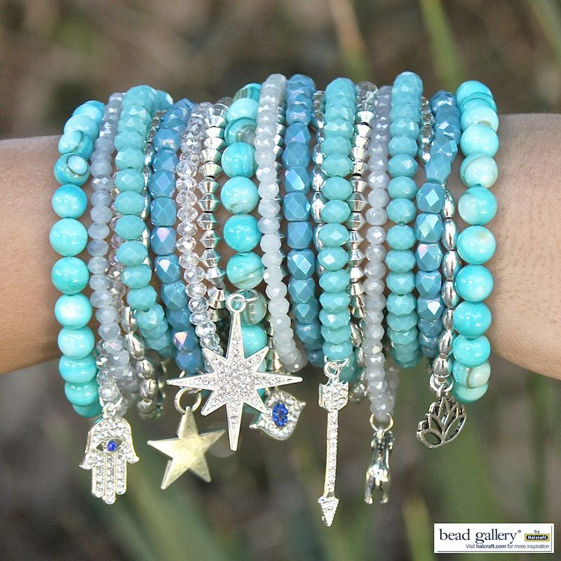 Make Your Own Charm Bracelets: Make Your Own Verre Bleu Bracelets With Bead Gallery Beads
