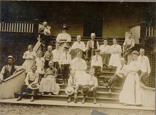 Family Reunion 1907 At Jeff Peace S Hotel In Monte Ne Benton Arkansas