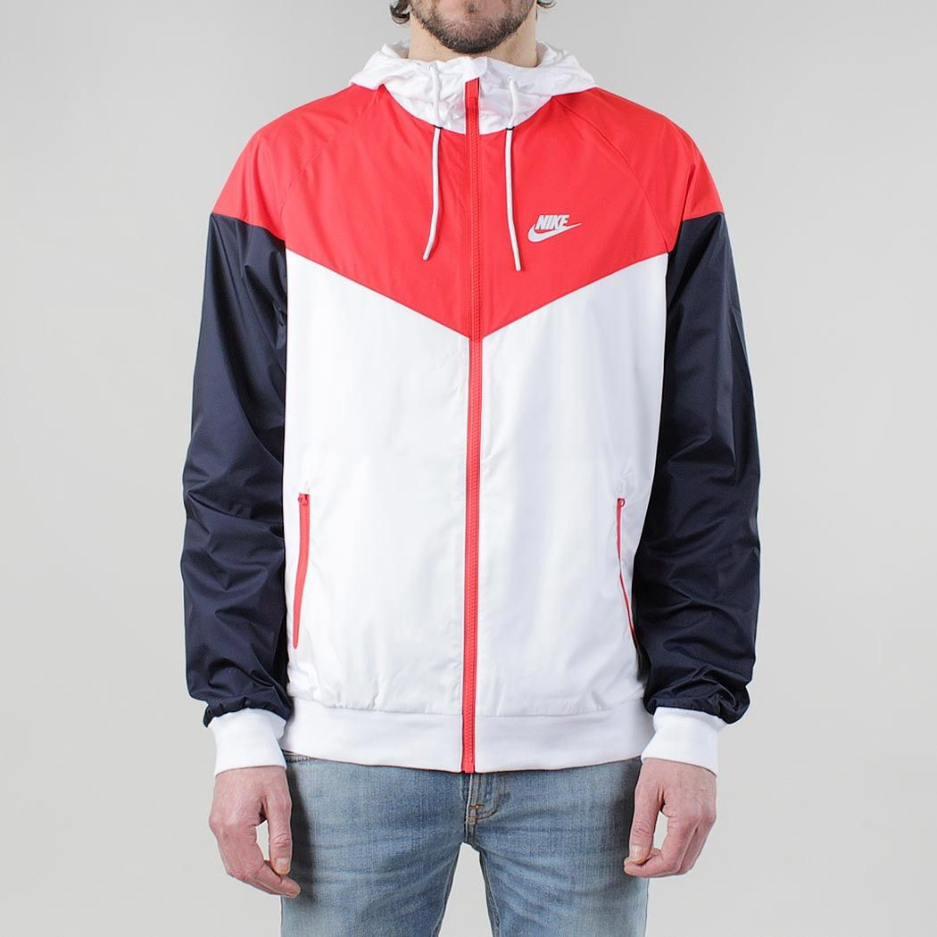 6157fbf28475 Nike Windrunner Jacket - White Light Crimson Obsidian