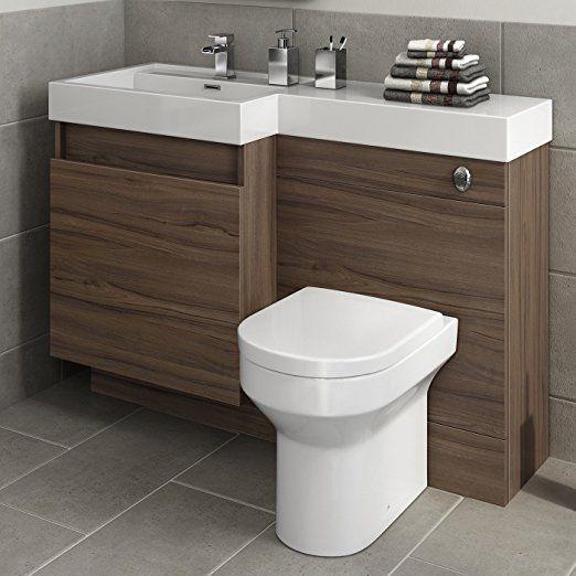 1200 Mm Modern Walnut Bathroom Drawer Vanity Unit Basin Sink Toilet Furniture Set Modern Bathroom Bathroom Vanity Top Bathroom Design