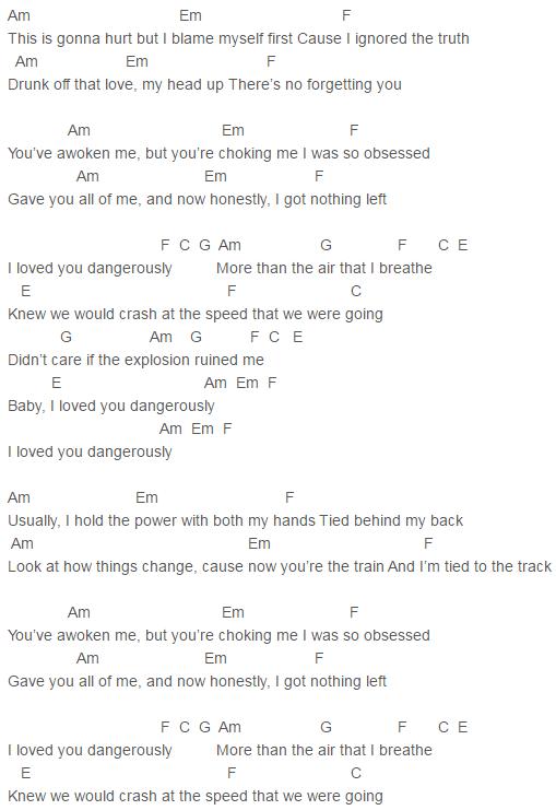 Charlie Puth, Nine Track Mind Dangerously Chords Lyrics for Guitar ...