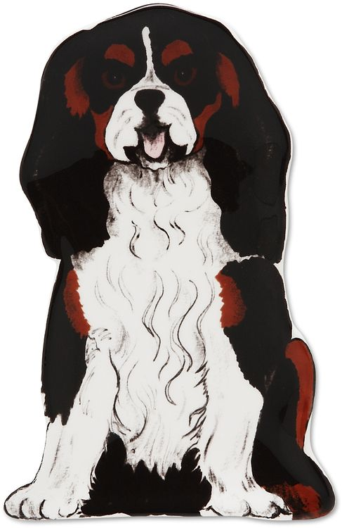 Rescue Me Now Devilin Cavalier Cavalier Dog Hand Painted Cat Cavalier