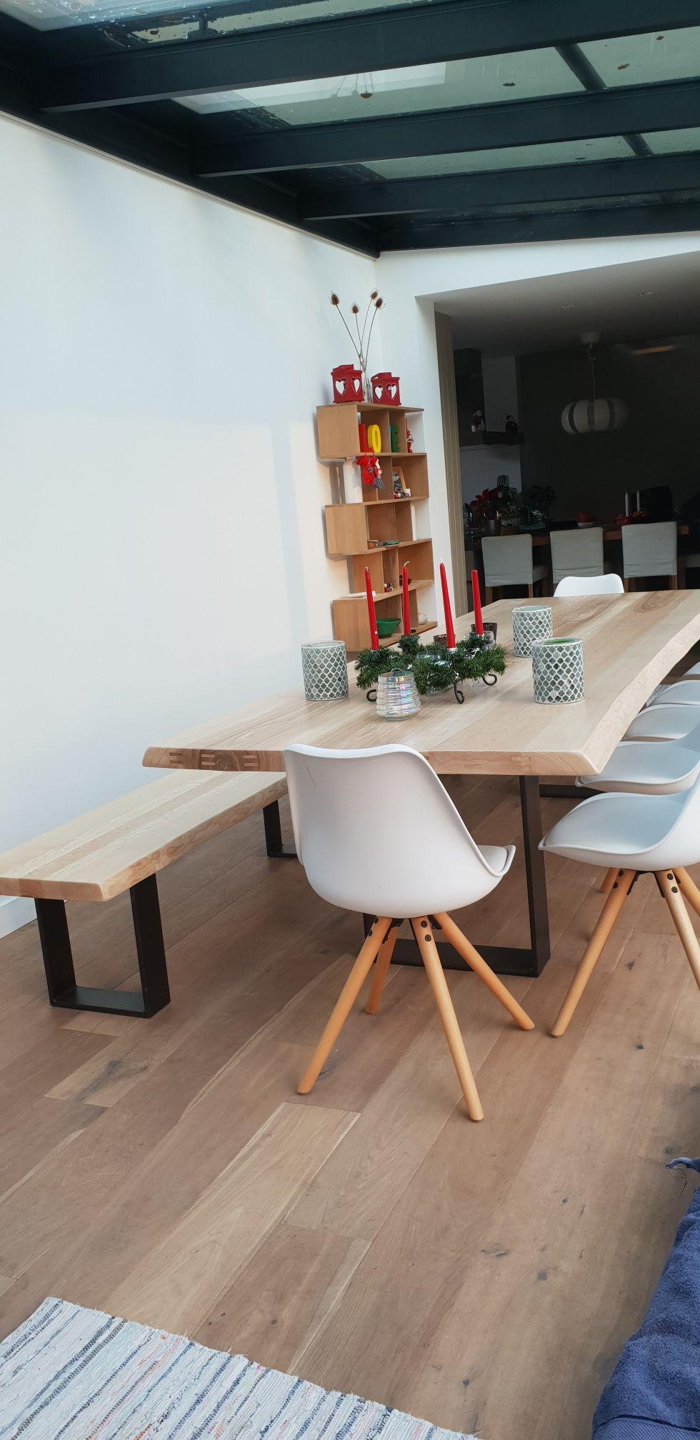 Table Pieds U Et Banc Industriels Table De Salle A Manger Table En