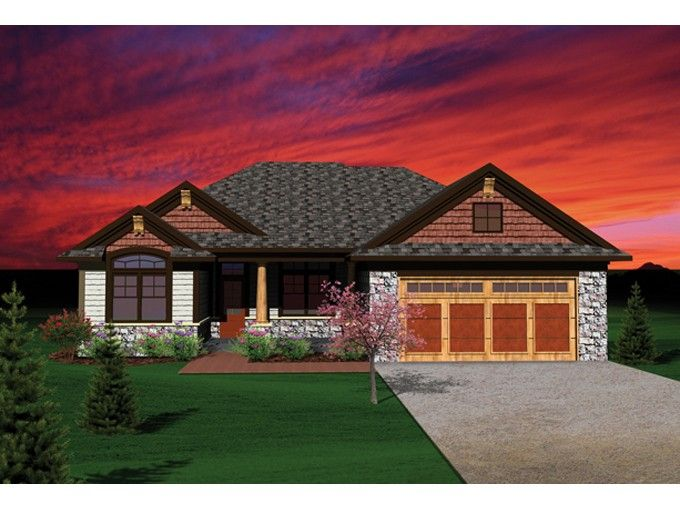 Ranch House Plan With 1935 Square Feet And 2 Bedrooms From Dream Home Source House Plan Code House Plans Craftsman Style House Plans Ranch Style House Plans