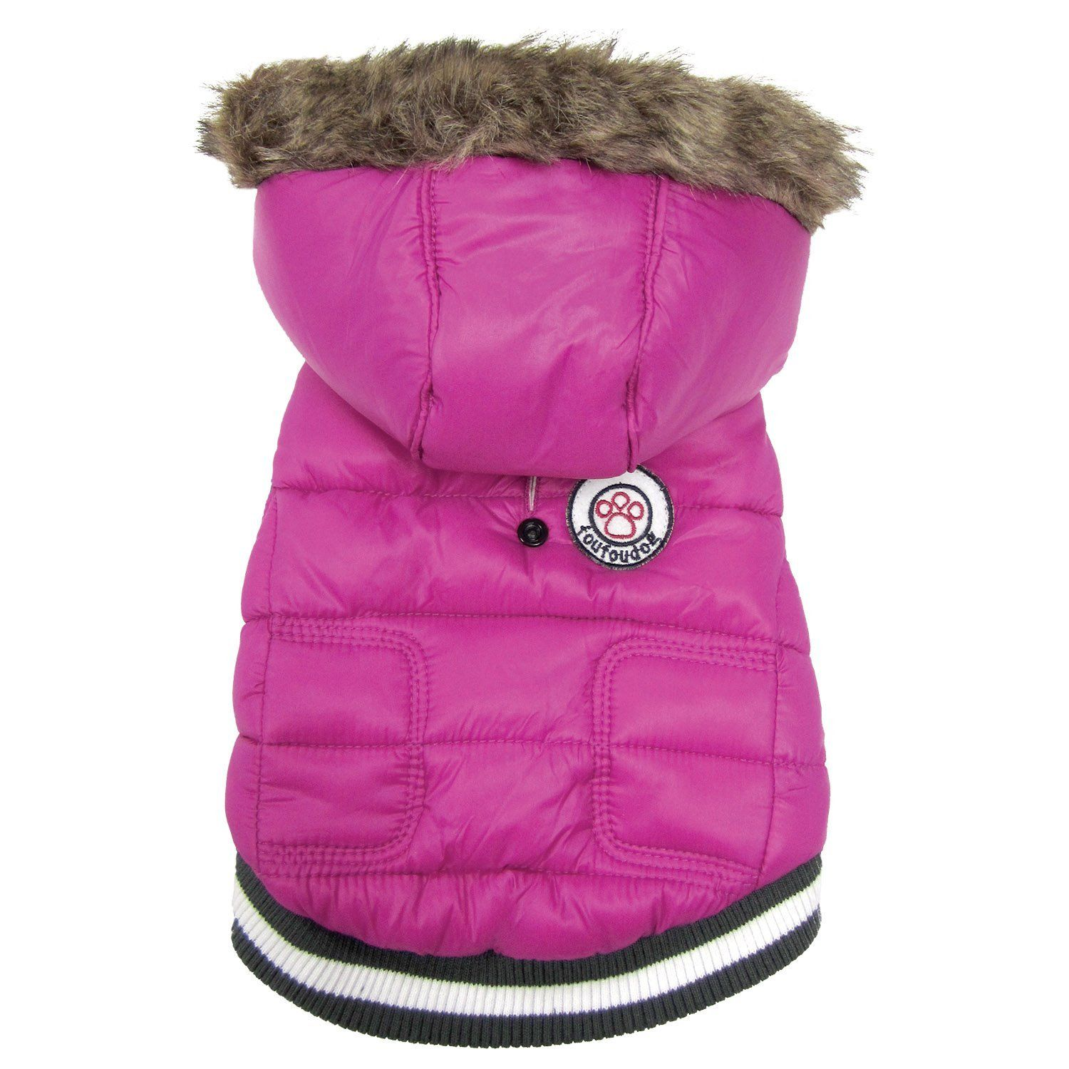 FouFou Dog 62537 Expedition Parka for Dogs, Medium, Pink