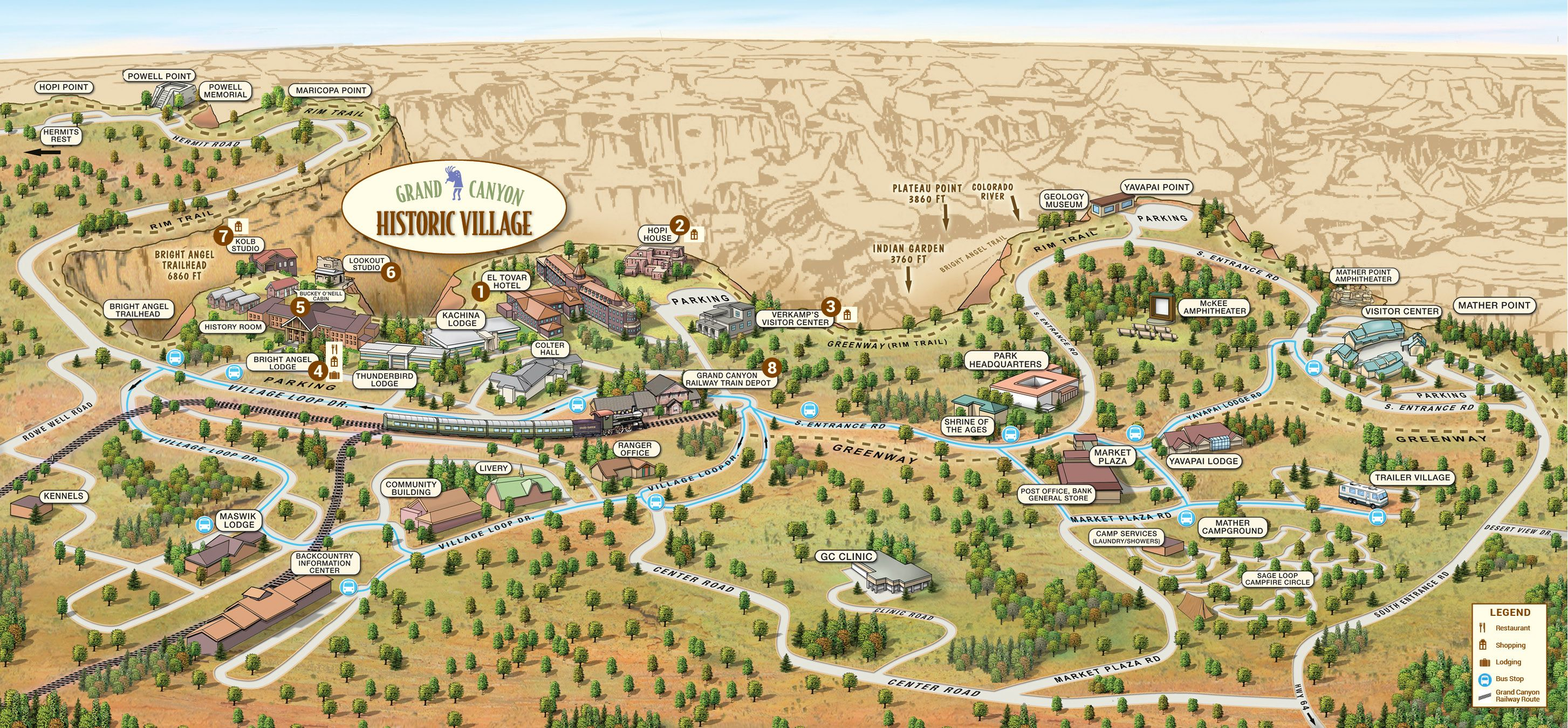 Grand Canyon Activities and Fees | Grand Canyon Village: | THE GREAT ...