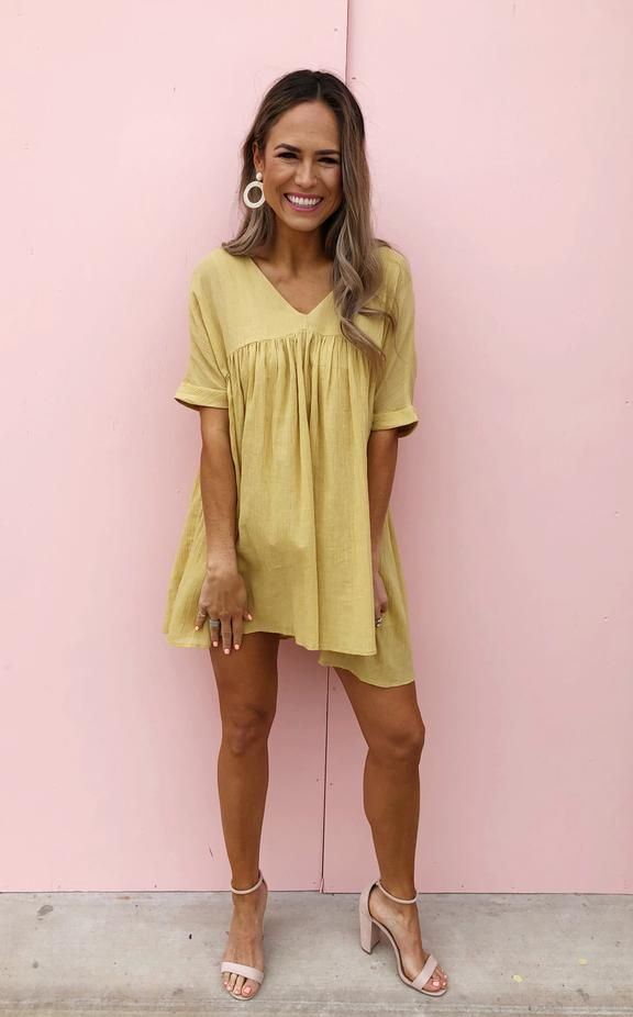 Penny Mustard Summer Dress Outfits Fashion Clothes For Women