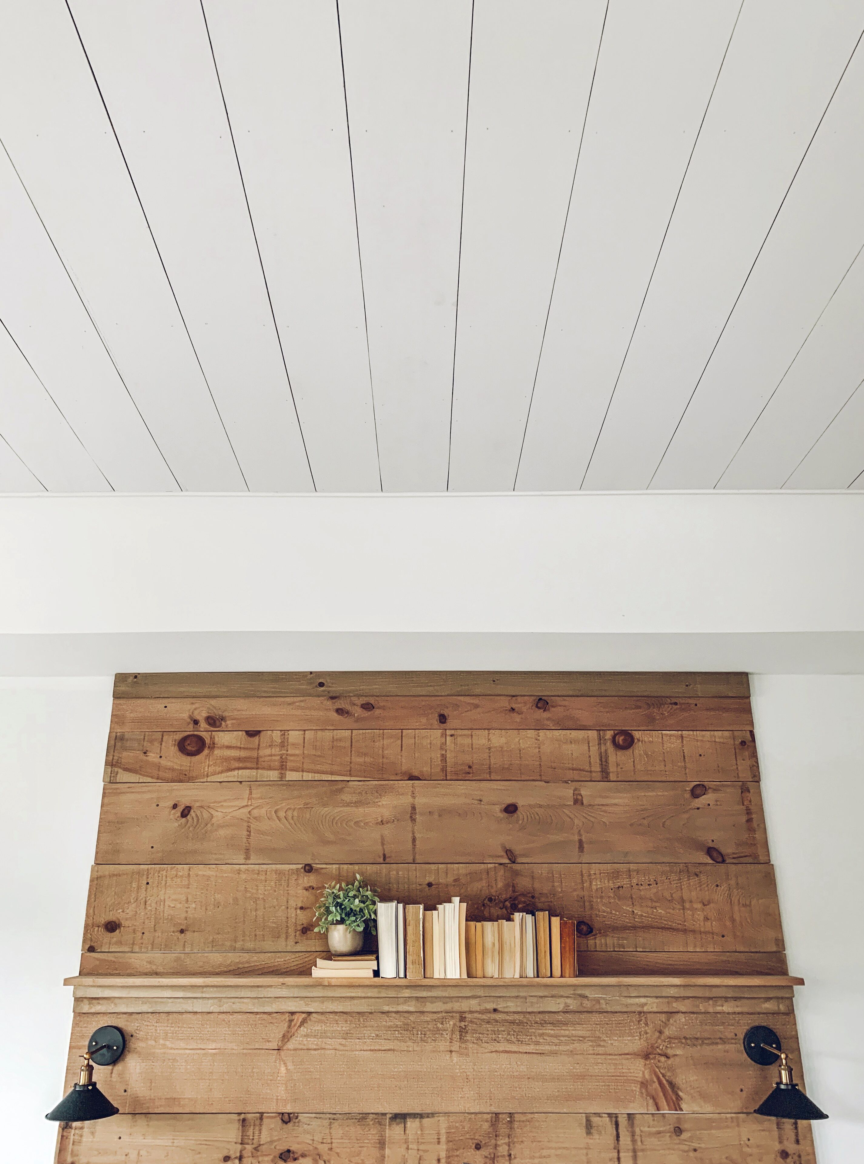 Ship Lap Ceilings And Can Lights For Kitchen Shiplap Ceiling Kitchen Ceiling Cathedral Ceiling