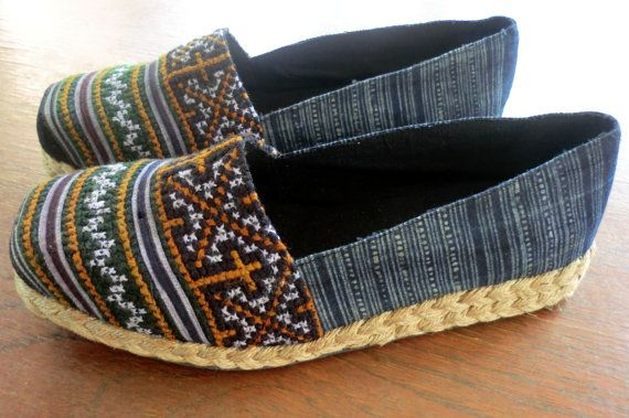 cd2c6c18ef3f2 Earthy Girl's Vegan Loafers In Hmong Embroidery and Batik - Chloe ...