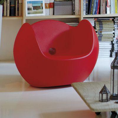 Slide Design Blos Rocking Chair Finish: Red