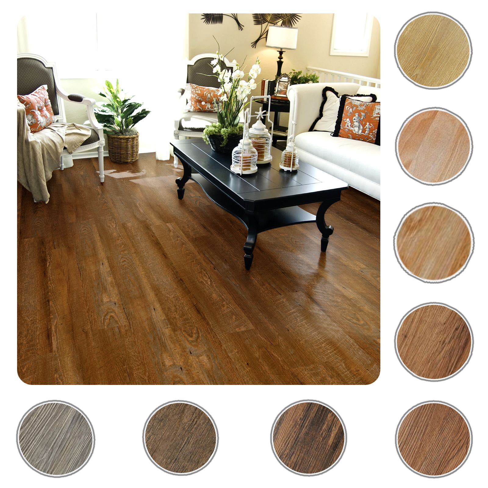 10 pack self adhesive vinyl hardwood wood peel n stick floor planks with images vinyl plank on kitchen remodel vinyl flooring id=99965