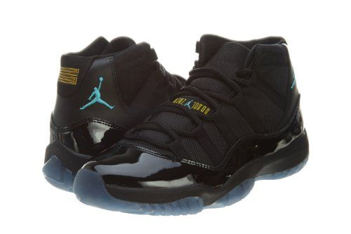 Nike Mens Air Jordan 11 Retro Black Gamma Blue Leather Basketball Shoes  Size 11 Jordan  http   www.amazon.com dp B00FQJ172A ref cm sw r pi dp Xgzovb1Q8ZYHG a270c7150