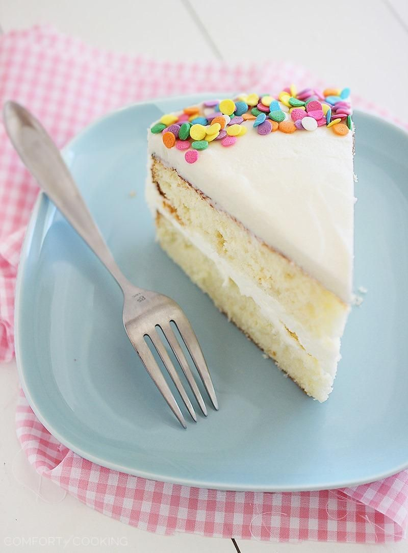 The Comfort Of Cooking Yellow Birthday Cake With Vanilla Frosting Used 3 Cups