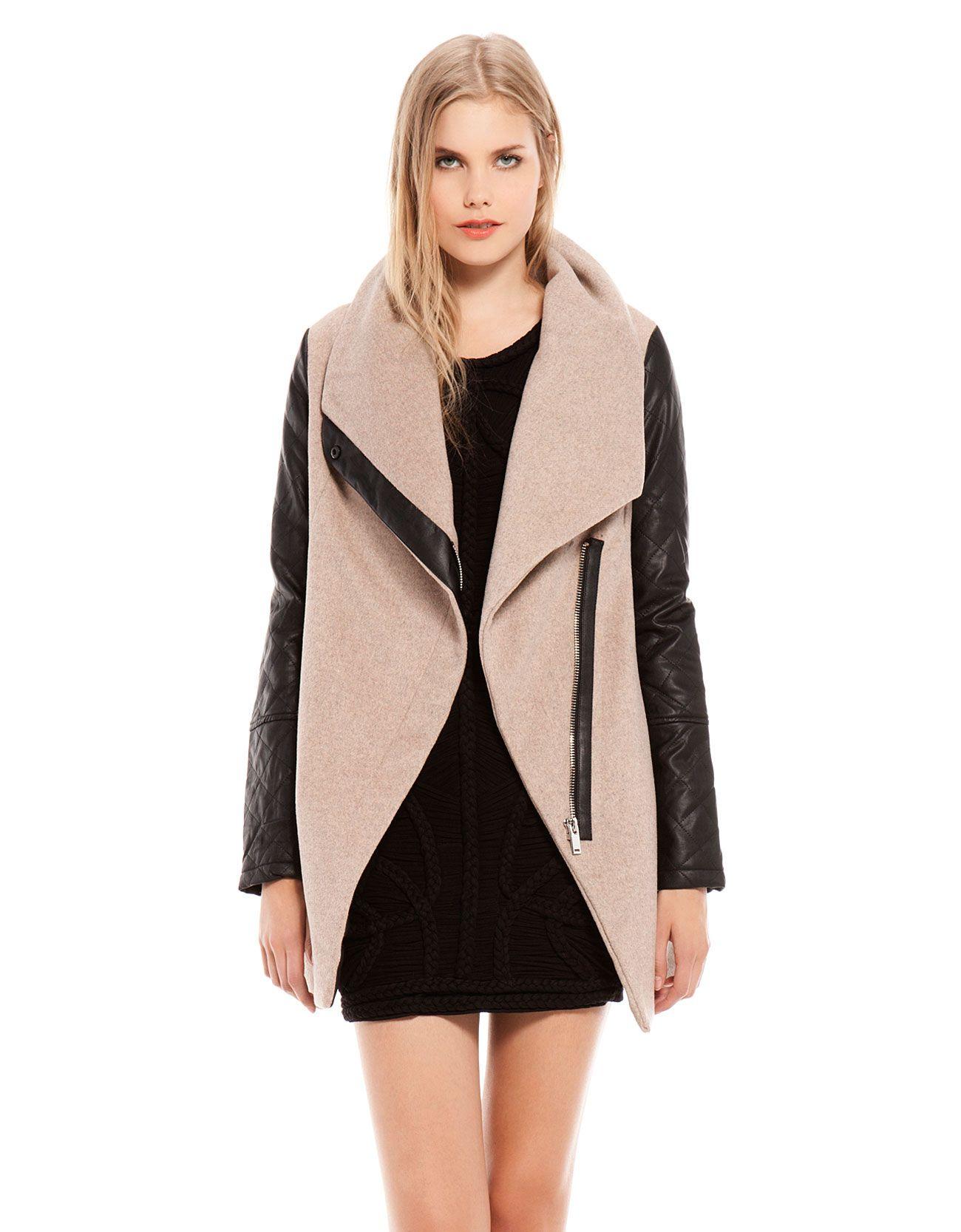 Bershka espa a abrigo bershka detalle cremallera invierno pinterest bershka abrigo - Comprar ropa en portugal ...