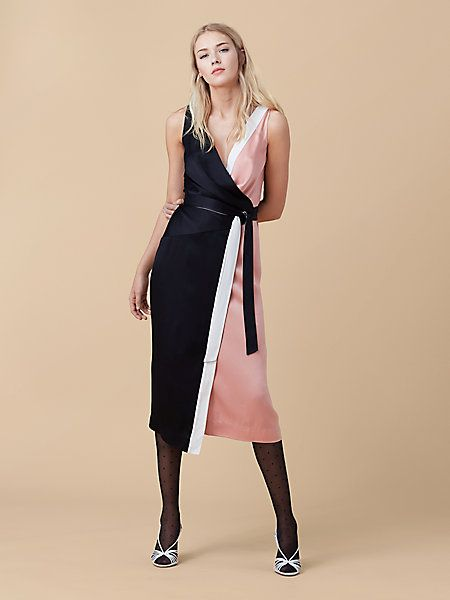 Color-blocked Wrap Dress | Landing Pages by DVF